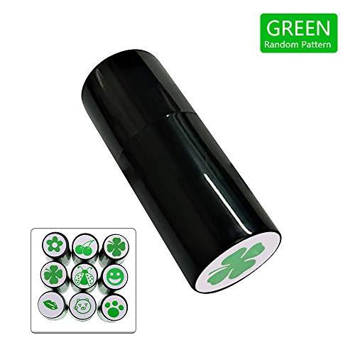 AZXAZ 1 stück Golfball Stempel Mit Verschiedenen Muster Personalisierte Golfball Stempel Siegel Schnell Trocknend 3 Farben Optional (Gelegentliche Muster Lieferung) (Grün)