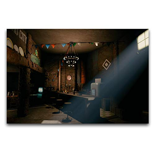HirrWill Cuadro de lienzo para pared, diseño de Fallout 4, Xbox One, versión moderna de arte abstracto de pared, sin marco, para sala de estar, dormitorio, estudio, ocio, baile, gimnasios