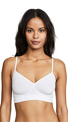 Yummie Women's Audrey Seamless Wire Free Comfort Day Bra White Bra MD/LG