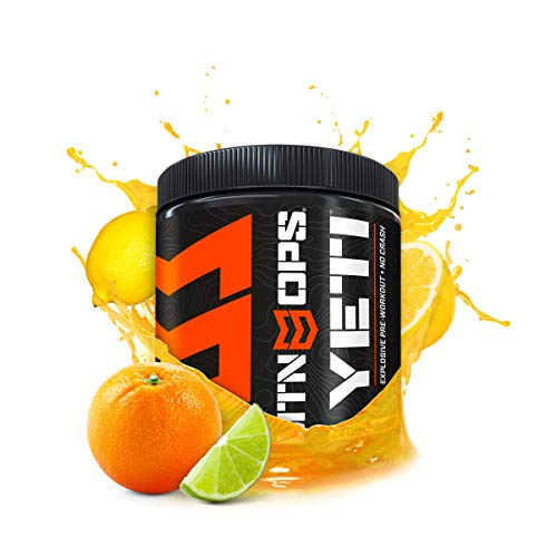 Mtn Ops Yeti Monster Pre-Workout Powder Energy Drink 30-Serving Tub, Citrus Bliss, 14.8 Ounce