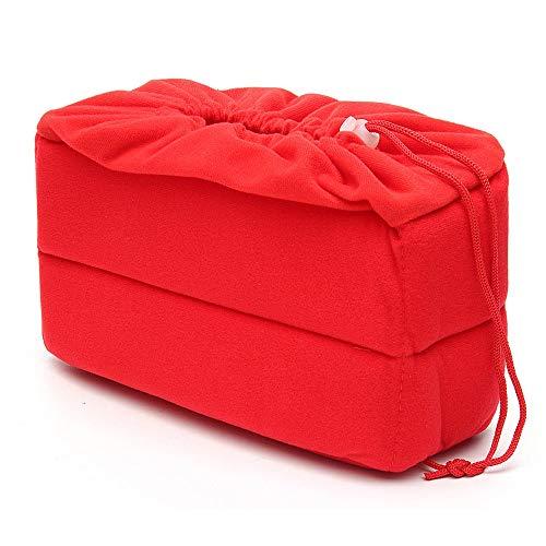 Kamera Rucksack Tasche Kamera-Einsatz Tasche schützt Fall Beutel Padded Stoß- DSLR Kamerataschen und Rucksäcke (Farbe : Red, Size : One Size)