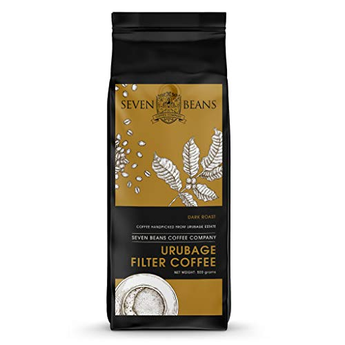 Seven Beans - URUBAGE South Indian Filter Coffee Powder - Coffee: 80%, Chicory: 20% ,500 g (Dark Roast)