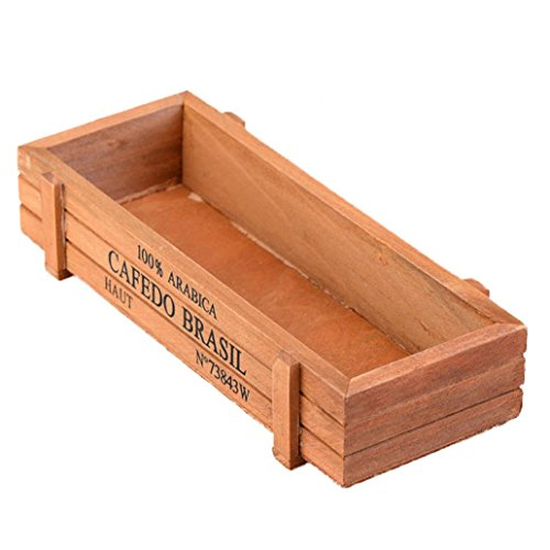 FOReverweihuajz Jardinière rectangulaire en bois - 22,5 x 8 x 5 cm - Couleur bois