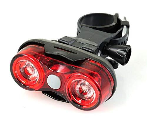Cicli Bonin Jy Rear 0.5W 2 Led 4 Functions omkeerbare lamp, rood/zwart, eenheidsmaat