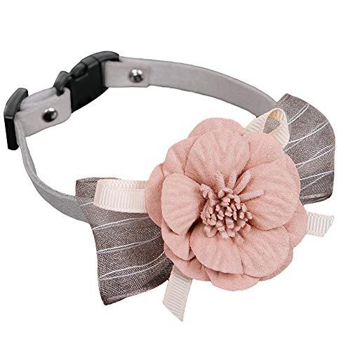 Livecitys Haustierhalsband, Samt, Blume, Schleife, verstellbar, Halsband für Hunde und Katzen, Halsband, Foto-Requisite