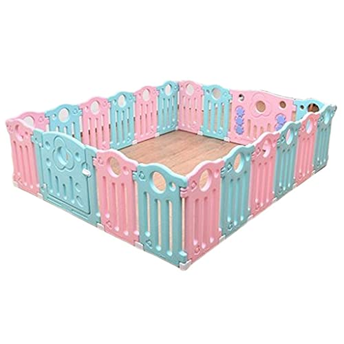 XCTLZG Parque para bebés con 20 Paneles de Colores, candado de Seguridad Mejorado, cambiable a octágono, rectángulo, Cuadrado, triángulo como Centro de Actividades para bebés y niños pequeños