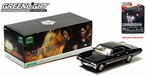 increíbles descuentos verdelight 1967 Chevy Impala Supernatural TV Show Show Show 1 18 Scale (negro) FREE 1 64 Scale Model with purchase    by verdelight  tienda de bajo costo