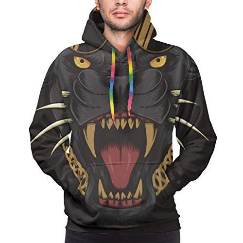 Harry wang Sudadera con Capucha para Hombre Cool Black Panther Ilustración Vectorial para su Empresa o Marca Sudadera