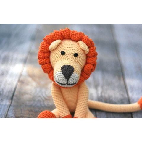 Handmade Lion Toy - Crocheted by Hand
