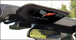 Corvette C6 CARBON FIBER Visor Airbag Decal Covers, Domed, Heavy Weight Foil & Epoxy, Pair