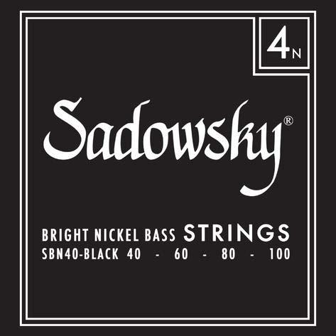 Sadowsky Black Label 040-100 - Juego de 4 cuerdas para bajo (níquel)