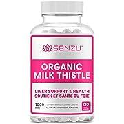 Organic Milk Thistle 4X Strength = 4000mg, Liver Health, Anti-inflammatory & Antioxidant, Non-GMO Vegan All-Natural (120 capsules) | Made in Canada