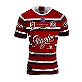 ZDVHM 2020 Sydney Rooster Rugby Jersey 100% Poliéster Tela Transpirable Deportes Fitness Fitness T-Shirt Rugby Uniform Camiseta de fútbol Camisetas para Fans (Color : 1, Size : M)