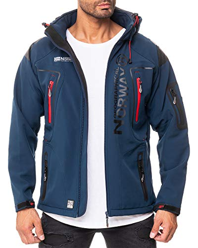 Geographical Norway Herren Outdoor Jacke Techno-bans Navy L