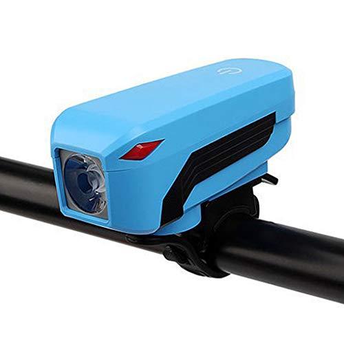lahomia Recargable T6 LED Bicicletas Bike Head Light Faros Delanteros Lámpara con Bocina - Todo Azul