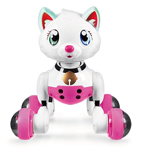 HI-TECH Wireless Interactive Robot Cat Cute Smart Kitty Best Birthday Present for Girls, Daughter, Kids, Children
