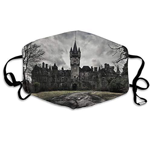 Viktorianischer Abandoned Palace Old Buildings Unisex-Gesichtsmaske Bandanas UV-Schutz Halstuch Gaiter Stirnband