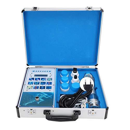 Qinlorgon Massaggiatore per alleviare Il Dolore, Macchina elettromagnetica extracorporea per Onde d'urto 19ED Portatile Professionale con CE(Spina UE 220V)
