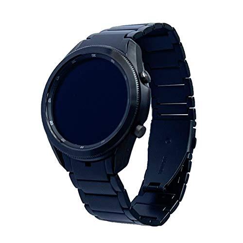 LDFAS for Galaxy Watch 3 45mm Bands, No Gaps 22mm Titanium Metal Watch Strap Compatible for Samsung Galaxy Watch 3 45mm Smartwatch, Black