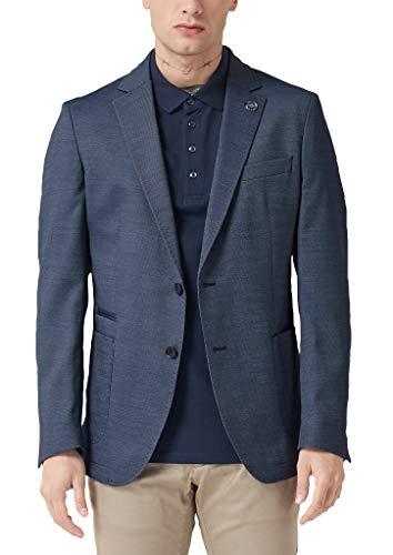 s.Oliver BLACK LABEL Herren 02.899.54.4490 Anzugjacke, Dark Blue Dobby, (Herstellergröße: 52)
