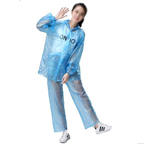 RUIX Regenjas Mode Transparant Regenjas Split Plastic Poncho Mannen En Vrouwen Waterdicht Outdoor Rijden, D