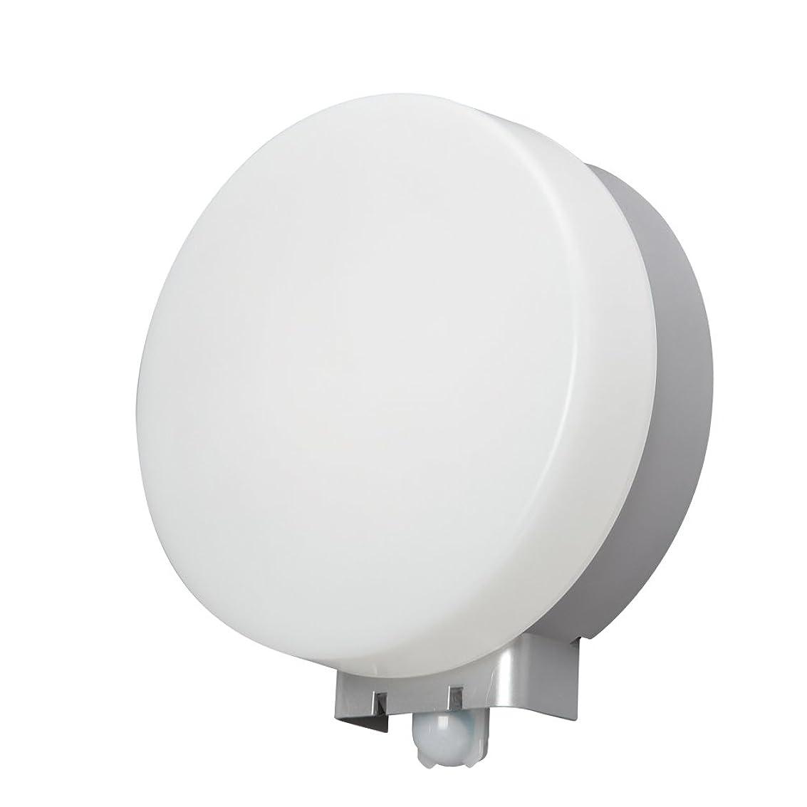 未払い神経衰弱支給アイリスオーヤマ LEDポーチ灯 人感センサー付 丸型 昼白色 520lm IRBR5N-CIPLS-MSBS