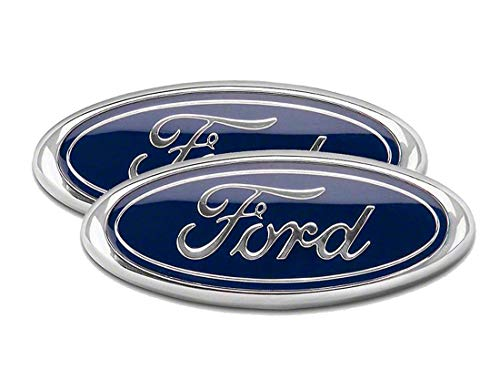 2004-2014 Ford F150 Front Grille Tailgate Emblem, Oval 9'X3.5', Dark Blue Decal Badge Nameplate Also Fits for 04-14 F250 F350, 11-14 Edge, 11-16 Explorer, 06-11 Ranger(2 Pack)