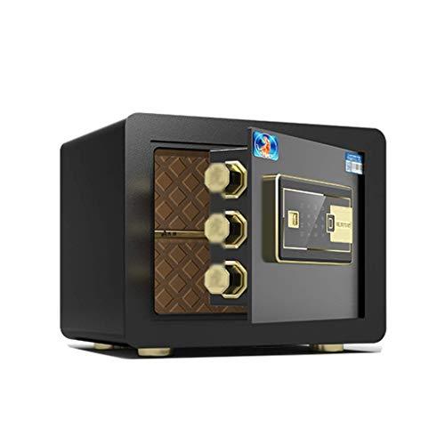 Gabinete de cajas fuertes Mini carpeta de huellas dactilares para el hogar antirrobo inteligente Millones en la pared Caja de depósito utilizada para joyas, efectivo y otros objetos de valor (Color: