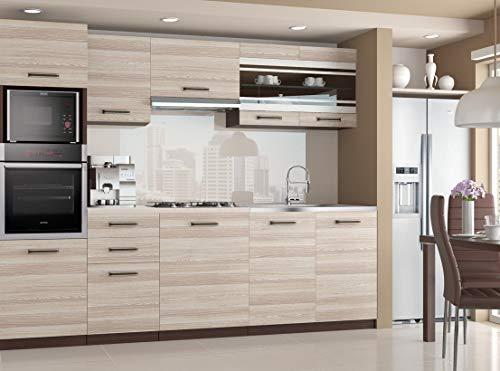 Muebles Cocina Completa,240 cms, Modulos de cocinas ref-09 (Acacia)