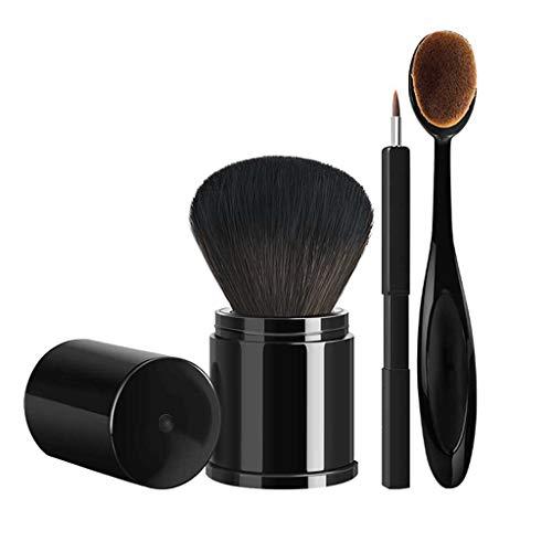 LHY- 3-pièce Pinceau Fond de Teint Poudre rétractable de Consigne de Brosse de Maquillage for Les lèvres lâches Brosse de la Brosse de Poudre Outils de beauté de Combinaison abordable Mode
