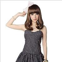 女性のかつら、梨花女子大学校のハンサムな女性は、毎日のパーティーのために、彼女の肩を転がしますボボヘッドチー前髪