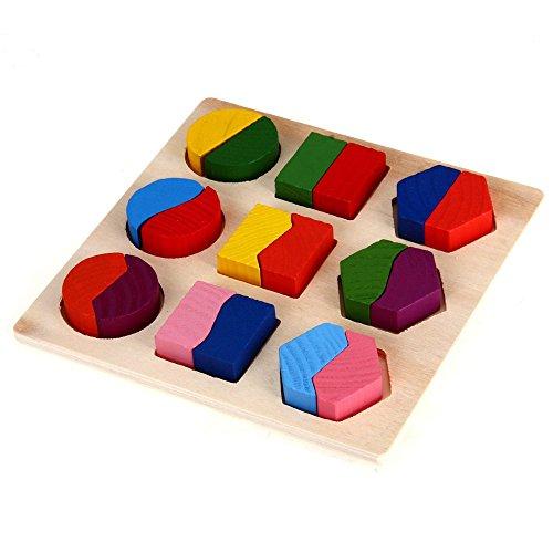 Dcolor Puzzle Jouet Jeux Casse-Tete Educatif en Bois pour Bebe Enfant