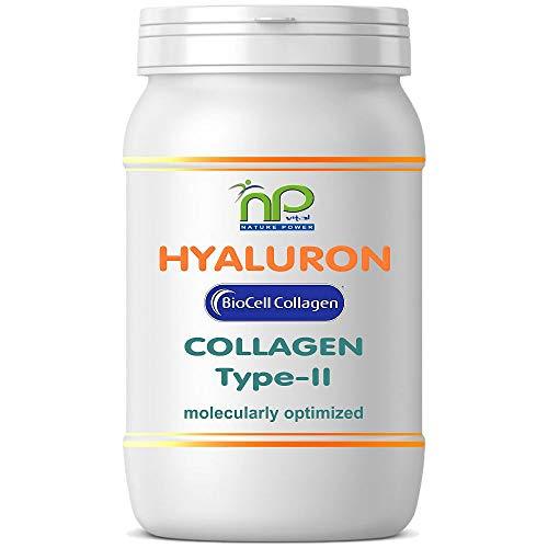 NP-Vital - Biocell Collagen® oder Collagen Express Kapseln (mit Collagen-II, Hyaluronsäure, Vitamin-C und Mangan) 1000mg Collagen/Tag für Haut, Haare, Gelenke (1x60 Biocell Collagen® Kapseln)