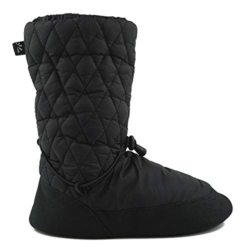 DANCEYOU Warm Up Boot for Ballet Dance for Women, Black, Size M