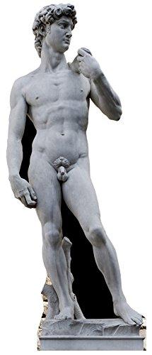 Star Cutouts Pappaufsteller von David von Michelangelo Statue