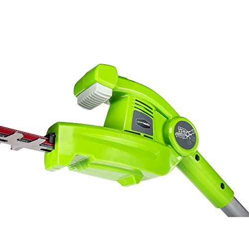 Greenworks PH40B210 20-Inch 40V Cordless Pole Hedge Trimmer 2.0 AH Battery...