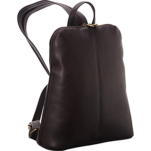 "Le Donne Leather Women's Tech-Friendly Backpack – Premium Full-Grain Colombian Vaquetta Leather Backpack, 11"" x 12"" x 4"" (Cafe)"