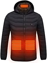 Heated Coat Size Adjustable Electric Warm Outwear for Hiking Camping Winter Skiing Hiking Motorcycle Travel Fishing Golf