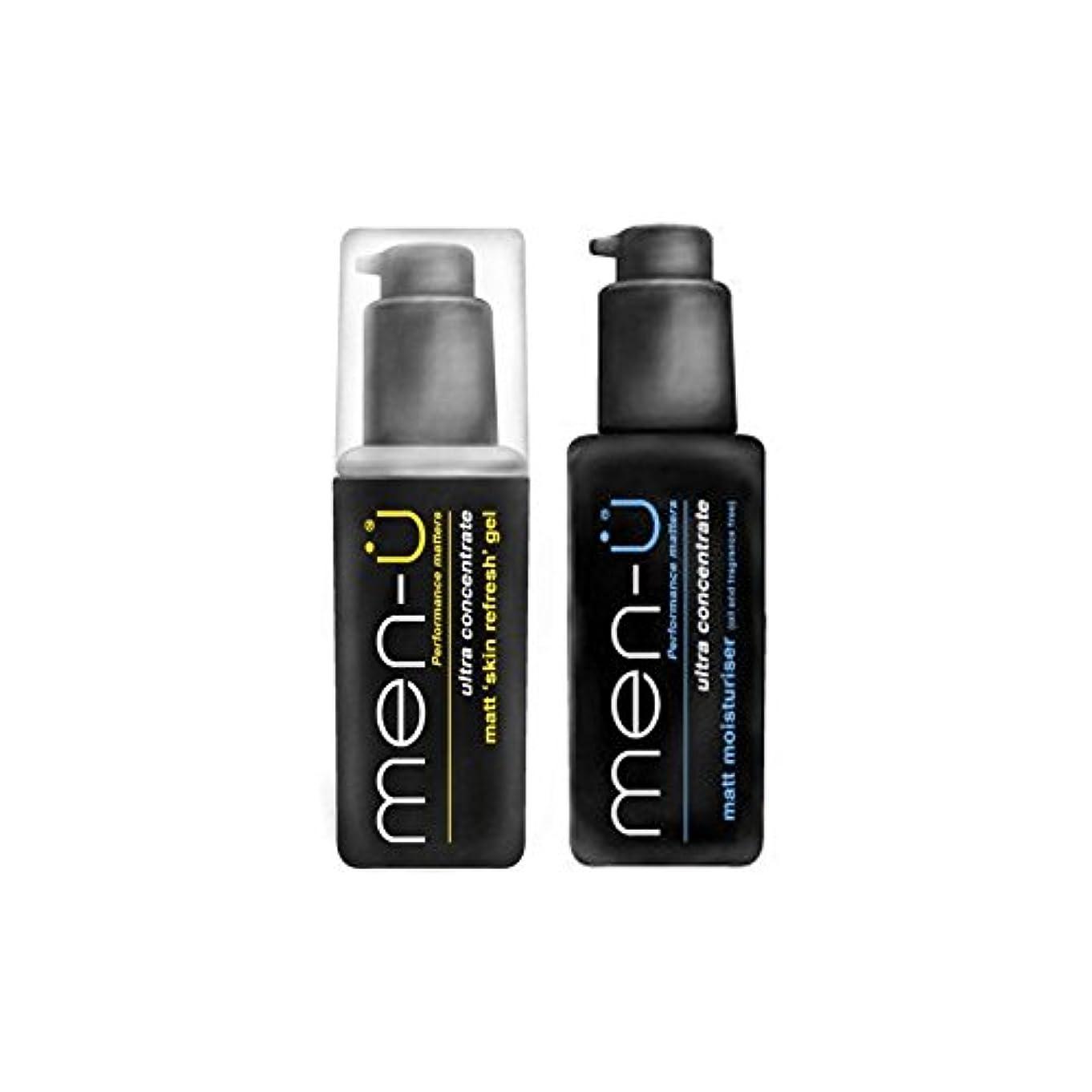 衛星火山学誘惑する男性-のマットリフレッシュとデュオを保湿 x4 - Men-? Matt Refresh And Moisturise Duo (Pack of 4) [並行輸入品]