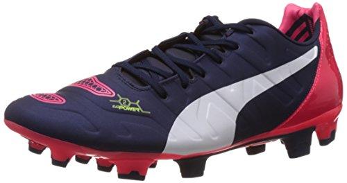 Puma Herren EvoPower 2.2 FG Fußballschuhe, Blau (Peacoat-White-Bright Plasma 01), 42