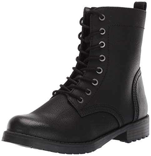 Amazon Essentials Women's Collins Combat Boot, Black, 8.5 B US