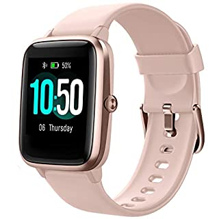 YAMAY Smart Watch Fitness Tracker Watches for Men Women, Fitness Watch Heart Rate Monitor IP68 Waterproof Watch with Step Calories Sleep Tracker, Smartwatch Compatible iPhone Android Phones (Pink) (B082LTBZS1) | Amazon price tracker / tracking, Amazon price history charts, Amazon price watches, Amazon price drop alerts