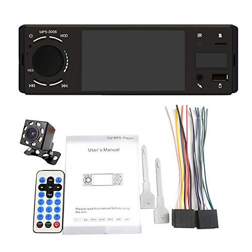 Youmine Autoradio 1 DIN Mirror Link Schermo da 4 Pollici Premere Schermo MP5 Lettore Video USB TF Vivavoce A2DP Sistema Stereo Testa B
