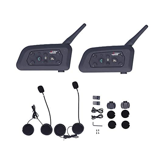Fydun V6 Intercomunicador Bluetooth Walkie Talkie Bluetooth Reproductor de música estéreo de teléfono MP3 Full Duplex Manos Libres para Motocicleta