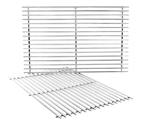 DELSbbq 7528 Stainless Steel Cooking Grates Replacement for Weber Genesis E and S Series 300 E310 E320 S310 S320 Gas Grills,19.5 inch #304 Stainless Steel