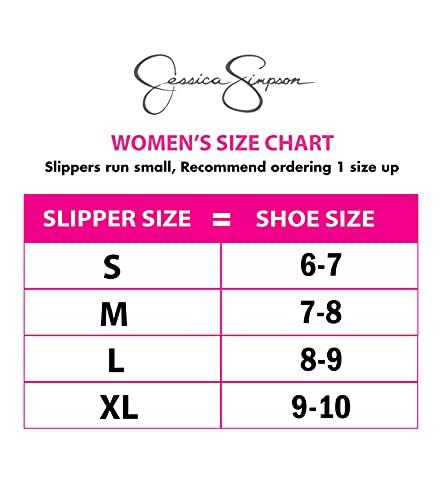 Jessica Simpson Women`s Micro Suede Moccasin Indoor Outdoor Slippers