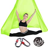 Conjunto de columpio de yoga aéreo para yoga con accesorios de montaje; columpio aéreo para yoga, antigravedad, tela de yoga, volante, para interior y exterior