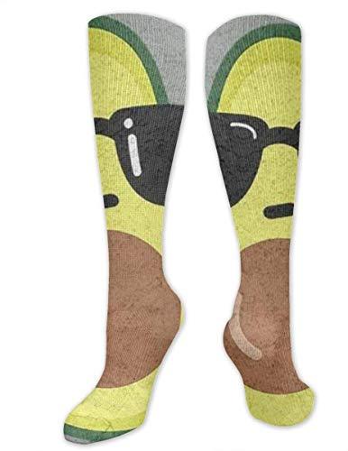 winterwang Calcetines de compresin de vidrio con aguacate para hombres y mujeres: las mejores medias para correr, viajar, espinilleras, enfermeras, en