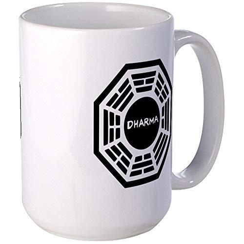 N\A Dharma Initiaive Logo (B) Mugs Taza de café, Grande de 11 oz. Taza de café con Leche