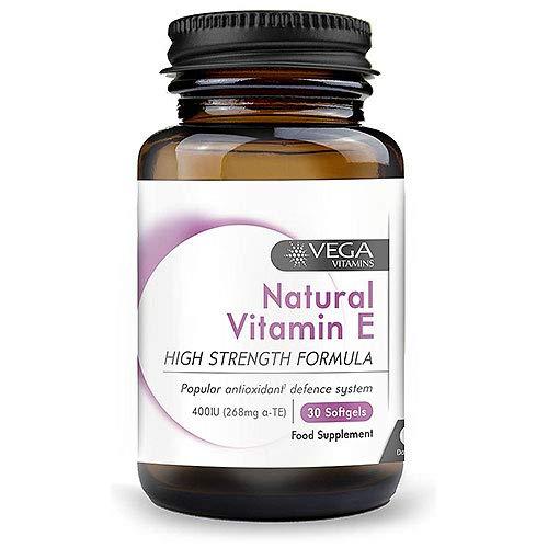 Vega Vitamins Natural Vitamin E - 30 x 400iu Softgels